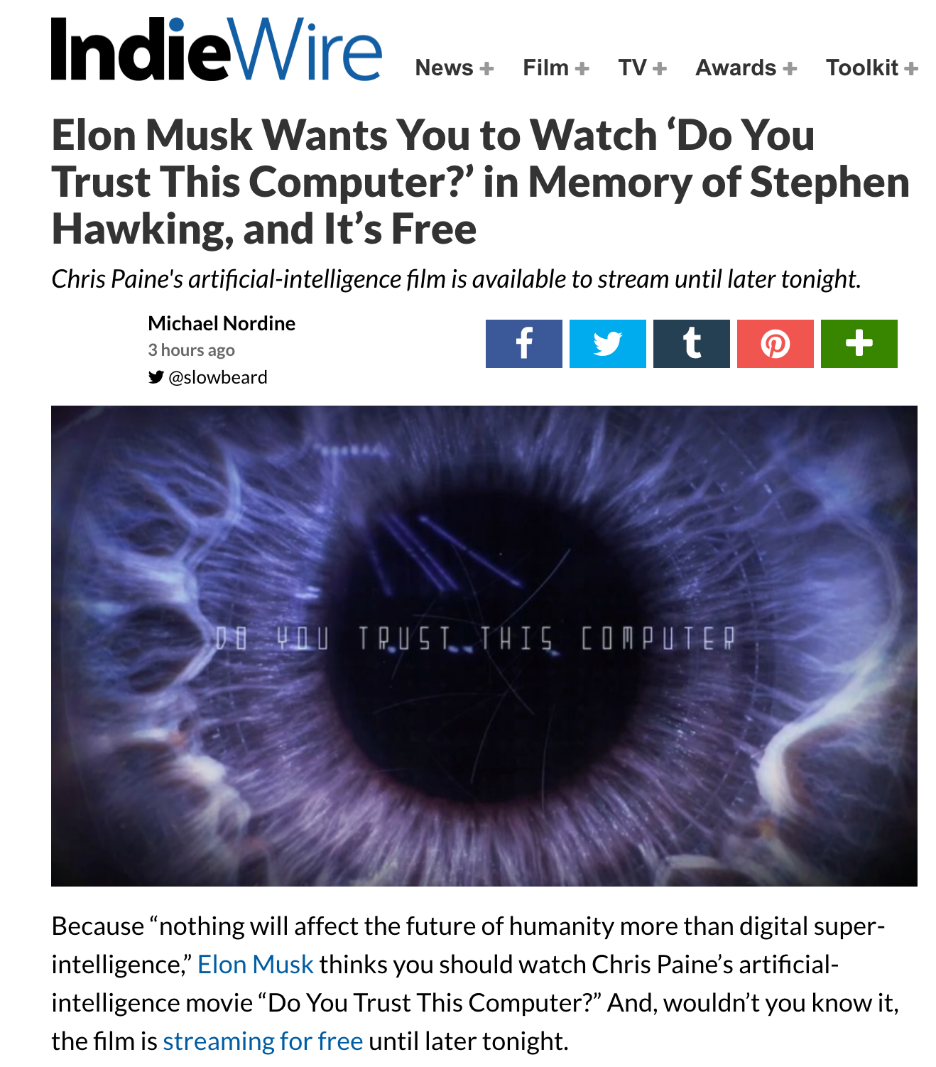 ELON WANTS YOU TO WATCH THIS